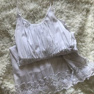 Beautiful white oldnavy dress with detailed bottom